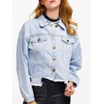 Denim Asymmetrical Hem Jacket