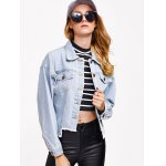best Denim Asymmetrical Hem Jacket