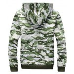 Camo Flocking Hoodie and Drawstring Pants Twinset for sale