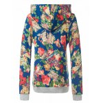 cheap Retro Floral Painting Pullover Hoodie