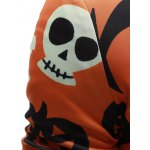 Stand Collar Zip Up Halloween Jacket for sale