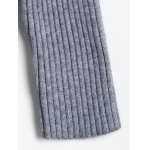 Solid Color Long Open Front Knit Cardigan for sale