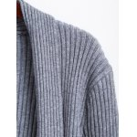 Solid Color Long Open Front Knit Cardigan deal