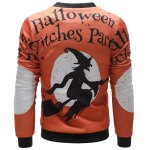Witch Printed Zip Up Halloween Jacket deal