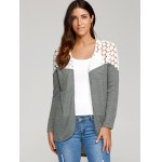 cheap Lace Patchwork High Low Cardigan