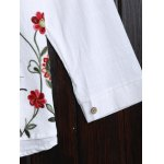 best Long Sleeve Flower Embroidered Blouse