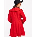 One Button Flounce Slimming Coat for sale