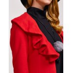 best One Button Flounce Slimming Coat