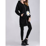 Applique Thicken Zipped Maternity Hoodie deal