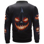 Wicked Pumpkin Printed Zip Up Halloween Jacket deal