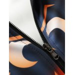 best Wicked Pumpkin Printed Zip Up Halloween Jacket