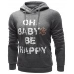 cheap Drawstring Graphic Pullover Hoodie