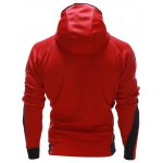 Color Block Splicing Hooded Zip Up Drop Shoulder Hoodie deal