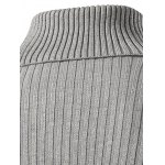Slim Fit Roll Neck Ribbed Knitted Sweater deal