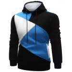 cheap Long Sleeve Contrast Paneled Pullover Hoodie