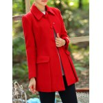 cheap Fitted Wool A Line Coat