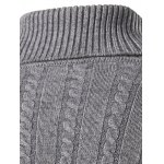 Slim Fit Turtleneck Cable Knit Sweater for sale