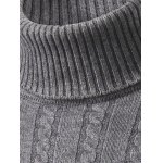 Slim Fit Roll Neck Cable Knitted  Sweater deal