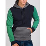 Contrast Color Kangaroo Pocket Drawstring Hoodie for sale