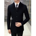cheap Single Breasted Knitted Collar Wool Mix Coat