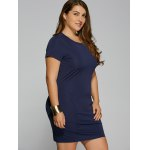 cheap Summer Short Sleeve Plus Size Bodycon Dress