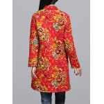 Chinese Style Floral Print Quilted Jacket deal