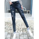High Waist Patched Pencil Jeans deal