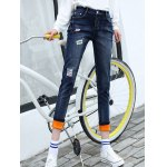 High Waist Patched Pencil Jeans for sale