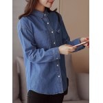 Pocket Embroidery Denim Shirt deal