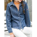 Graphic Embroidery Denim Shirt deal