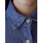 Cartoon Patched Denim Shirt for sale