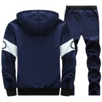 cheap Graphic Flocking Hoodie and Drawstring Pants Twinset
