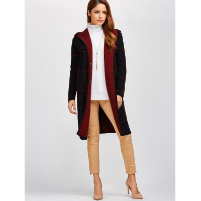 Plaid Fleece Hooded CardiganSweaters &amp; Cardigans<br>Plaid Fleece Hooded Cardigan<br><br>Type: Cardigans<br>Material: Polyester<br>Sleeve Length: Full<br>Collar: Hooded<br>Style: Fashion<br>Pattern Type: Plaid<br>Season: Fall,Spring,Winter<br>Weight: 0.620kg<br>Package Contents: 1 x Cardigan