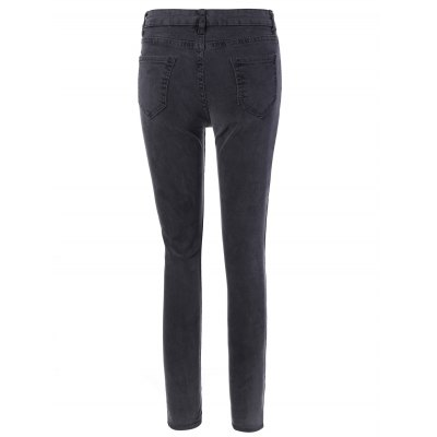 Elastic Skinny Jeans With Pocket