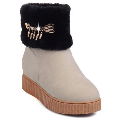 Increased Internal Faux Fur Snow Boots