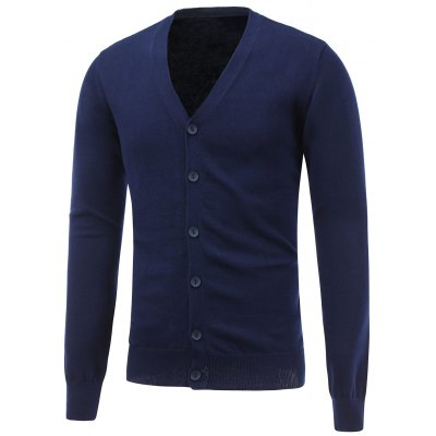 Button Up Flat Knitted Cardigan