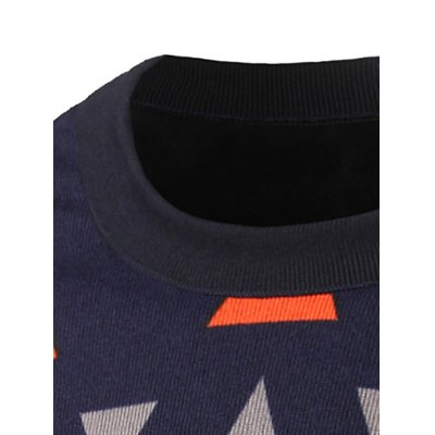 Crew Neck Waviness and Geometric Graphic Sweater от GearBest.com INT
