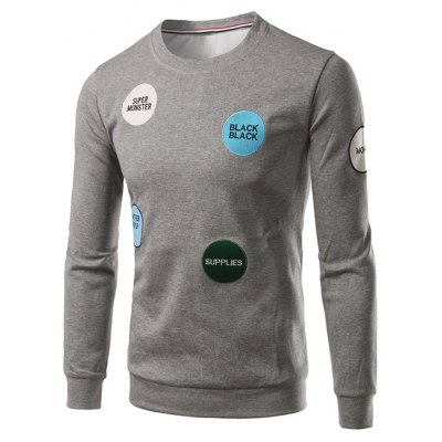 Patch Crew Neck Sweatshirt