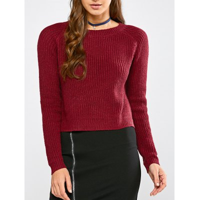 Knitted Long Sleeves Chunky Sweater