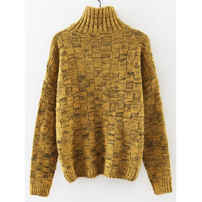 Turtleneck Long Sleeve Cable Knit Sweater