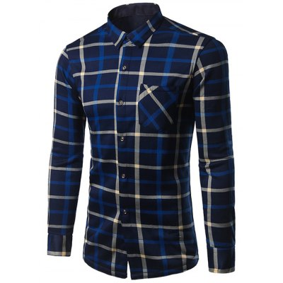 Turndown Collar Long Sleeve Shirt