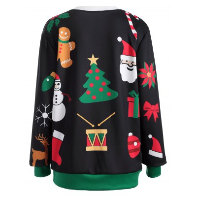 Pullover Christmas Graphic Print Sweatshirt  $17.07