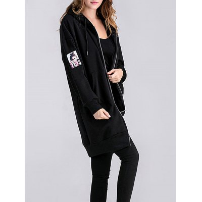 Applique Maternity Hoodie