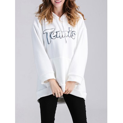 Tennis Applique Maternity Hoodie