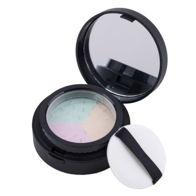 3 Colours Rotary Pressed Powder Makeup Palette Kit