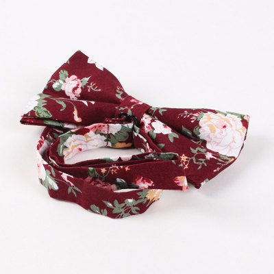 Flower Shivering Pattern Bow Tie