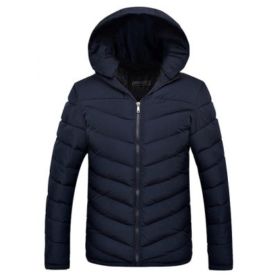 Slim Fit Zipper Up Quilted Hooded Jacket