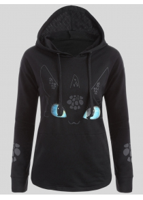 Plus Size Cartoon Character Graphic Hoodie