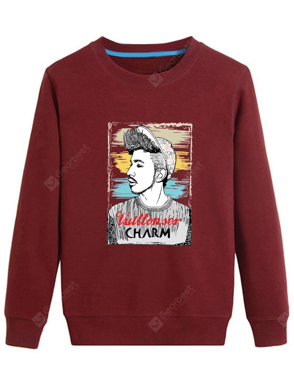 Men Graphic Printed Long Sleeve Sweatshirt