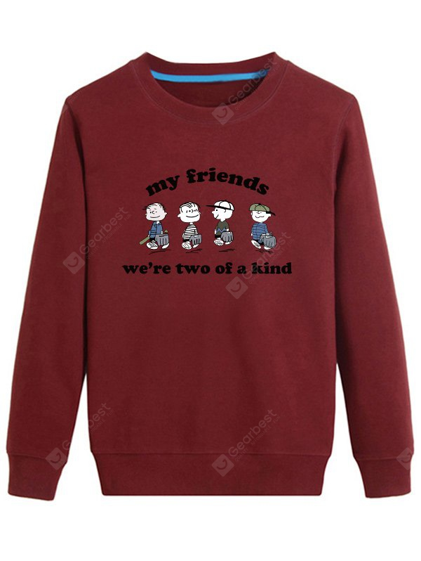 Friend Printed Long Sleeve Sweatshirt